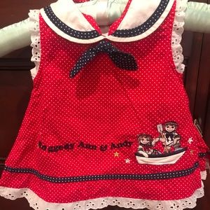 Vintage Baby Dress Raggedy Ann and Andy